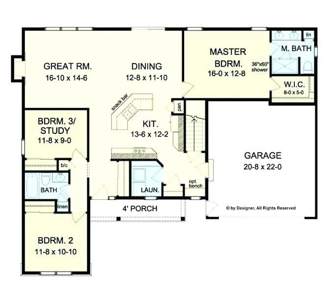 Pin By Rachel On Floor Plan Wishlist Floor Plans Ranch Open Concept House Plans House Plans One Story