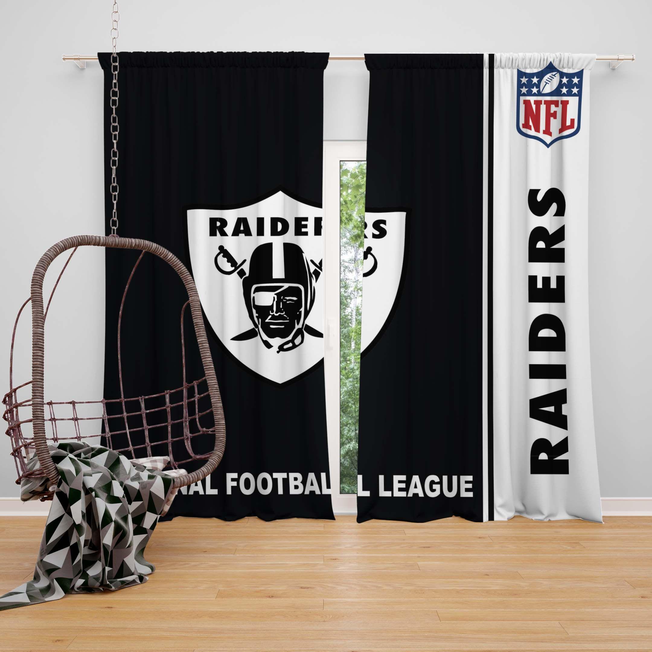 Nfl Oakland Raiders Bedroom Curtain Ebeddingsets Nfl Oakland
