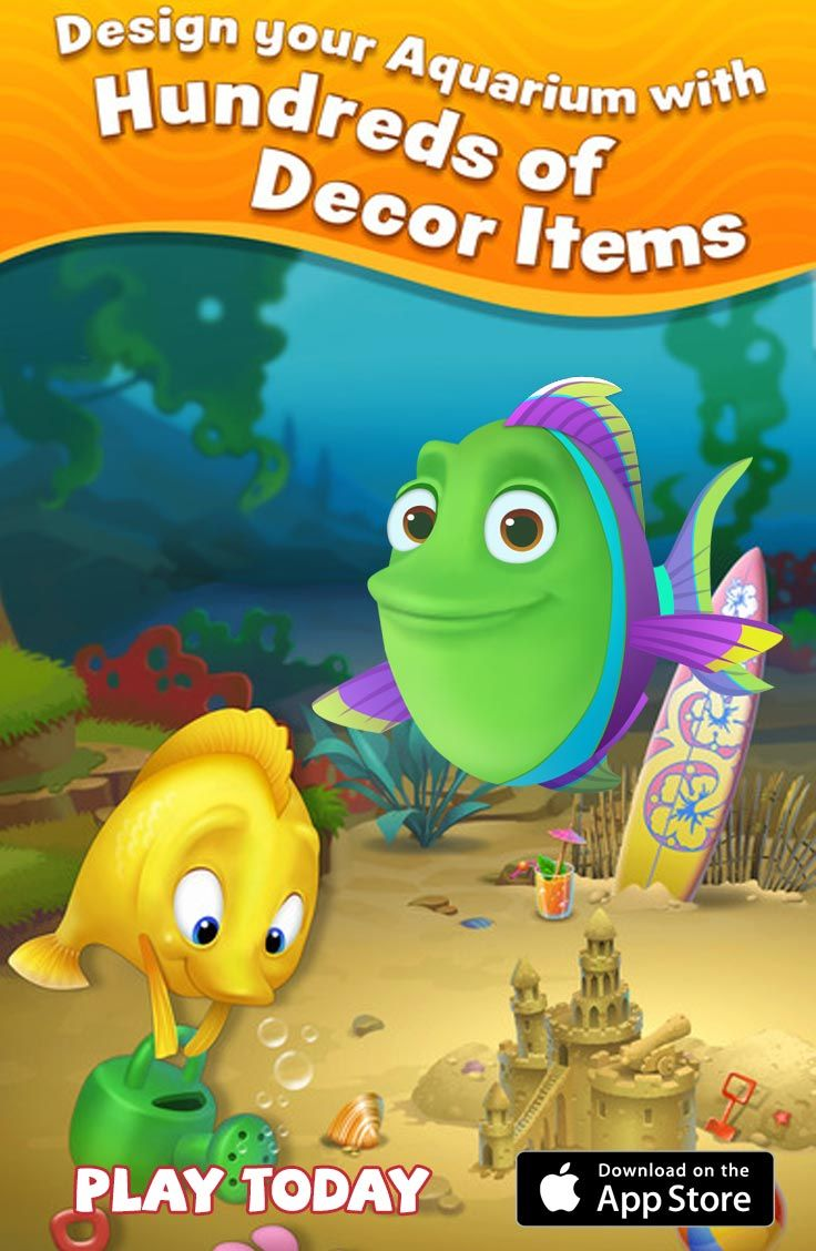 Design your own aquariums and enjoy match3 levels! Free