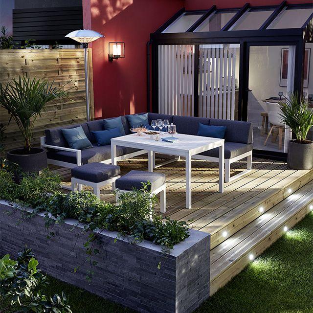 canap de jardin batang 2 places castorama terrasses. Black Bedroom Furniture Sets. Home Design Ideas