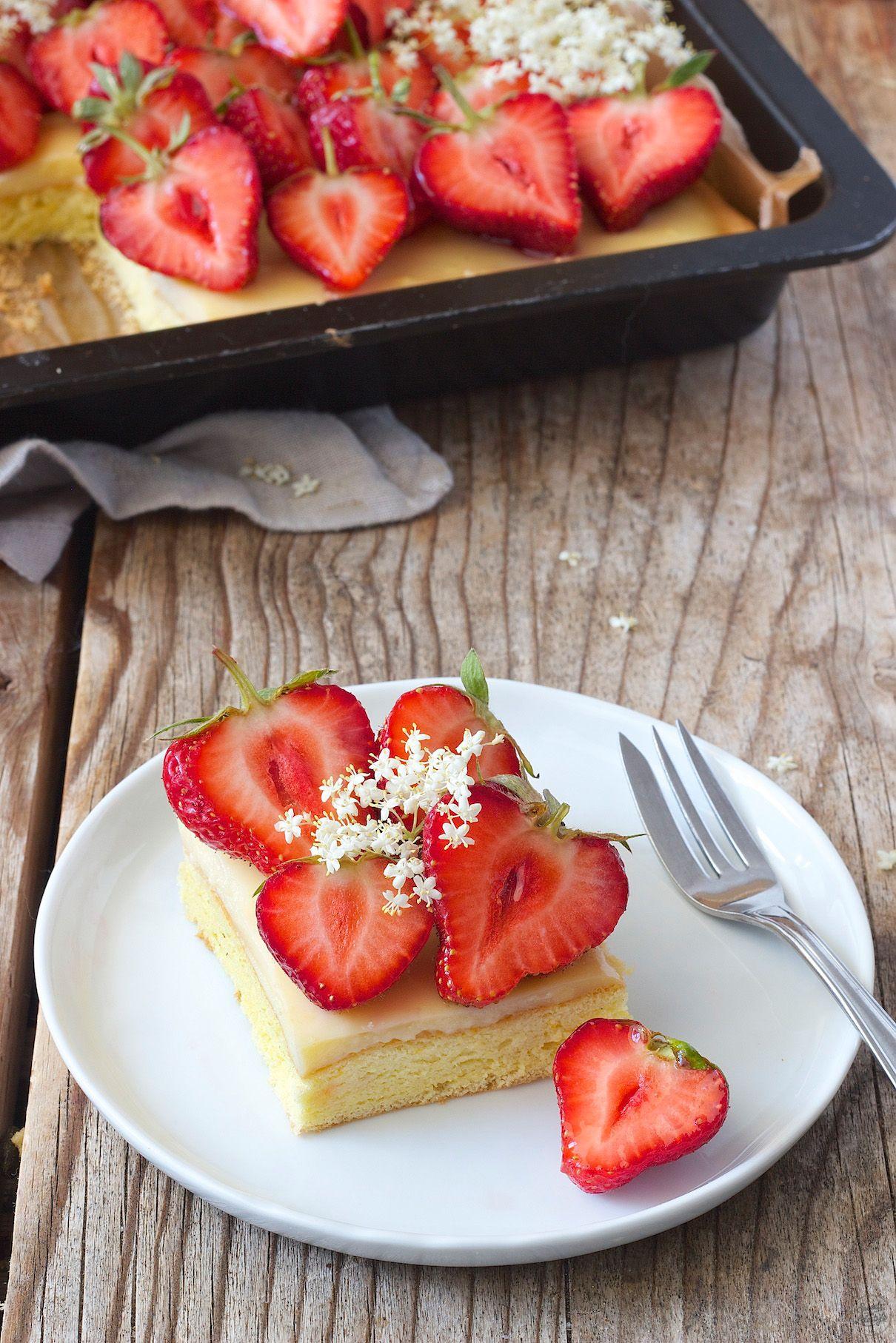 Erdbeerkuchen Vom Blech Rezept Torten Kuchen Tartes Usw