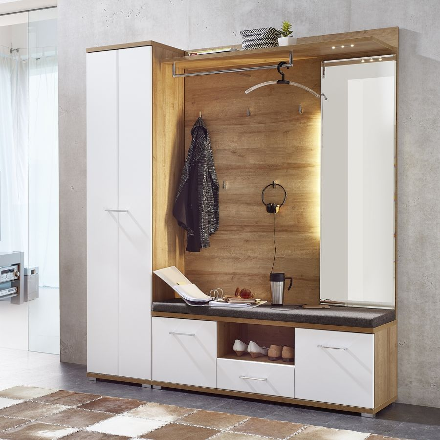 Garderobeset Arcola 2 Delig Kopen Home24 Garderobe Schrank Garderobenschrank Garderoben Set