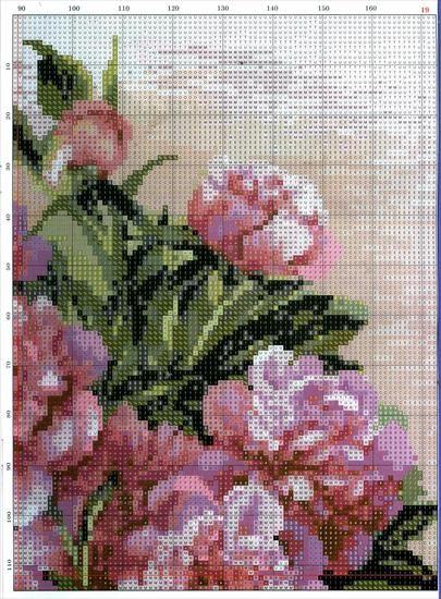 Piwonie Kwiaty Izyda55 Chomikuj Pl Strona 4 Cross Stitch Flowers Cross Stitch Patterns Cross Stitch Silhouette