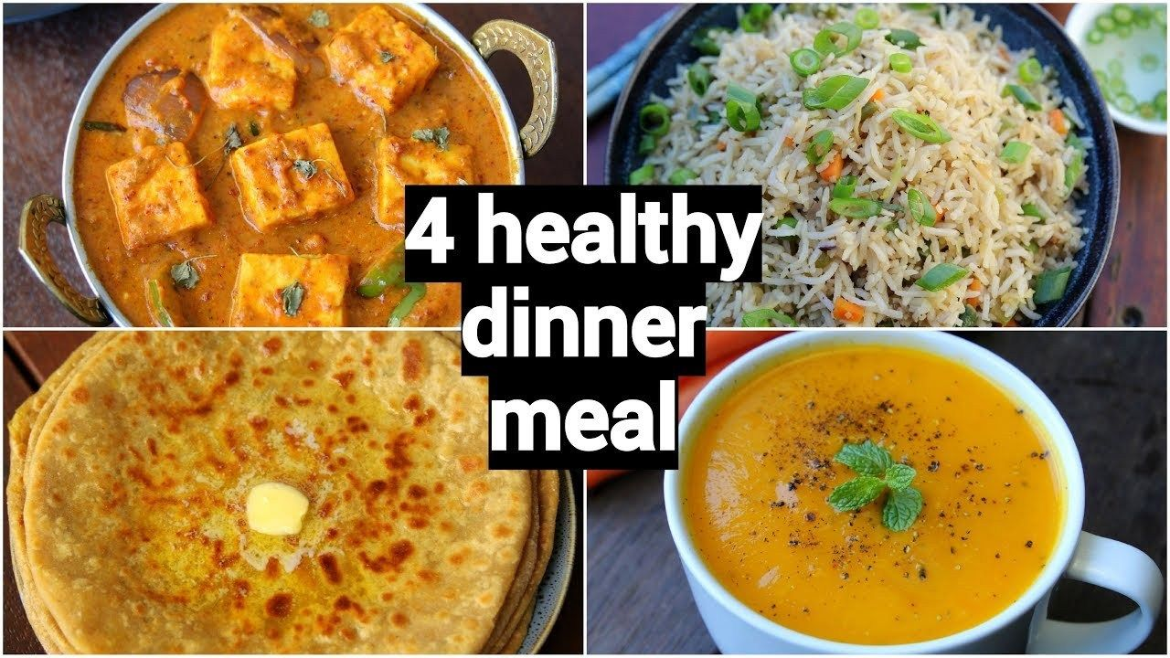 4 healthy quick dinner recipes easy dinner party recipe ideas indian dinner meal quick on hebbar s kitchen dinner recipes id=78939
