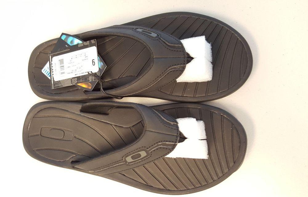 39dba9255dabe Oakley Dune Sandals Flip Flops - size 9 Jet Black New  Oakley  FlipFlops