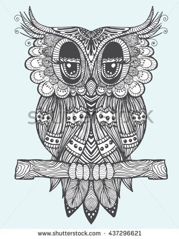 Portrait Of An Owl Owls Head Abstract Bird Print Profile Decorative Stylized Line Art Drawing By Han Owl Coloring Pages Bird Line Drawing Head Abstract