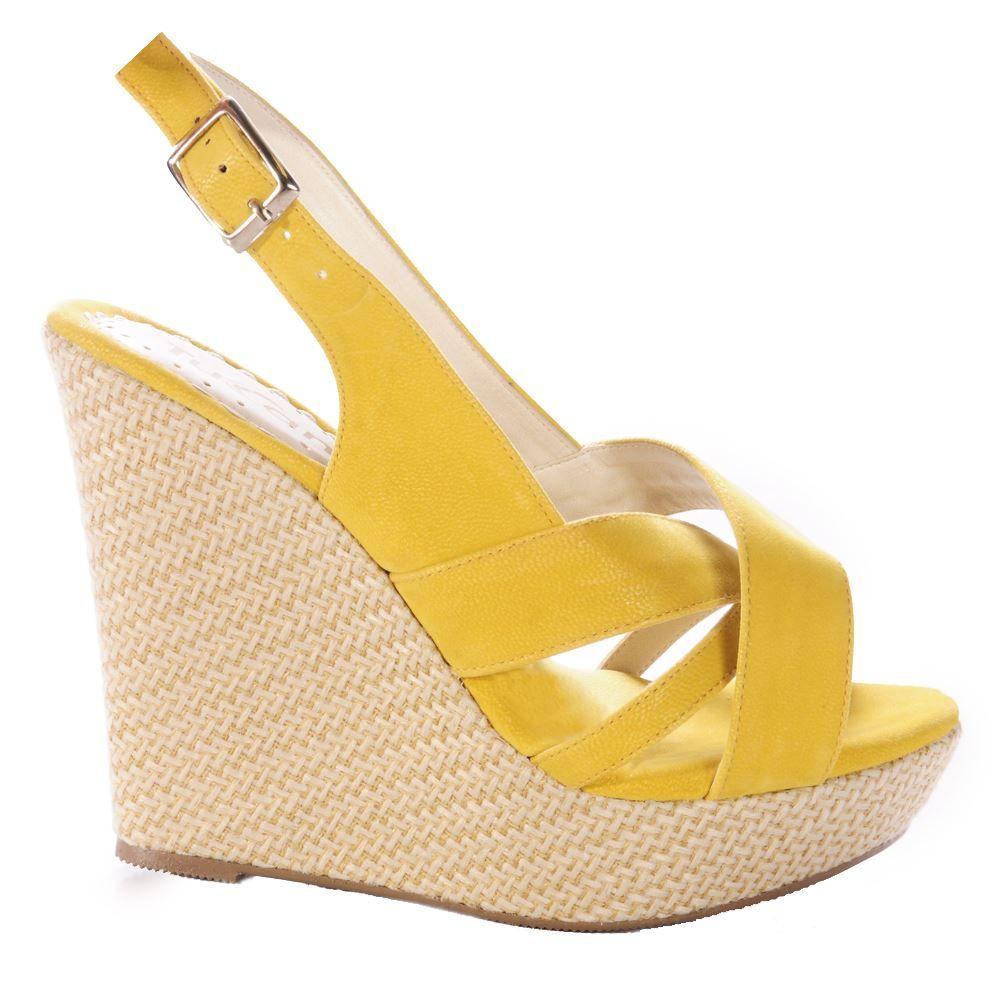 Zapato Tucan Plataforma Yute 1932 | Amarillo #Comandato