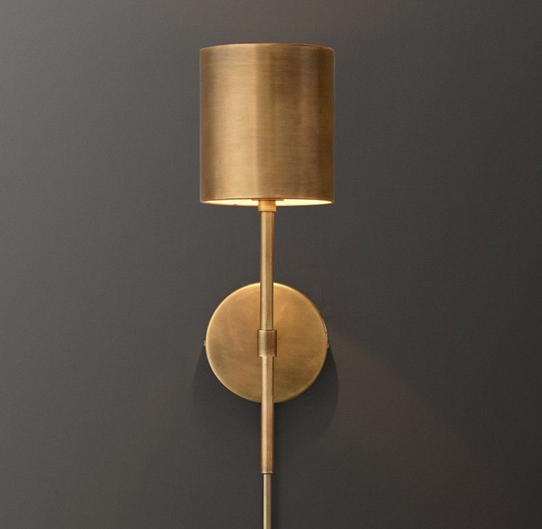 Landon Sconce - Antiqued Brass