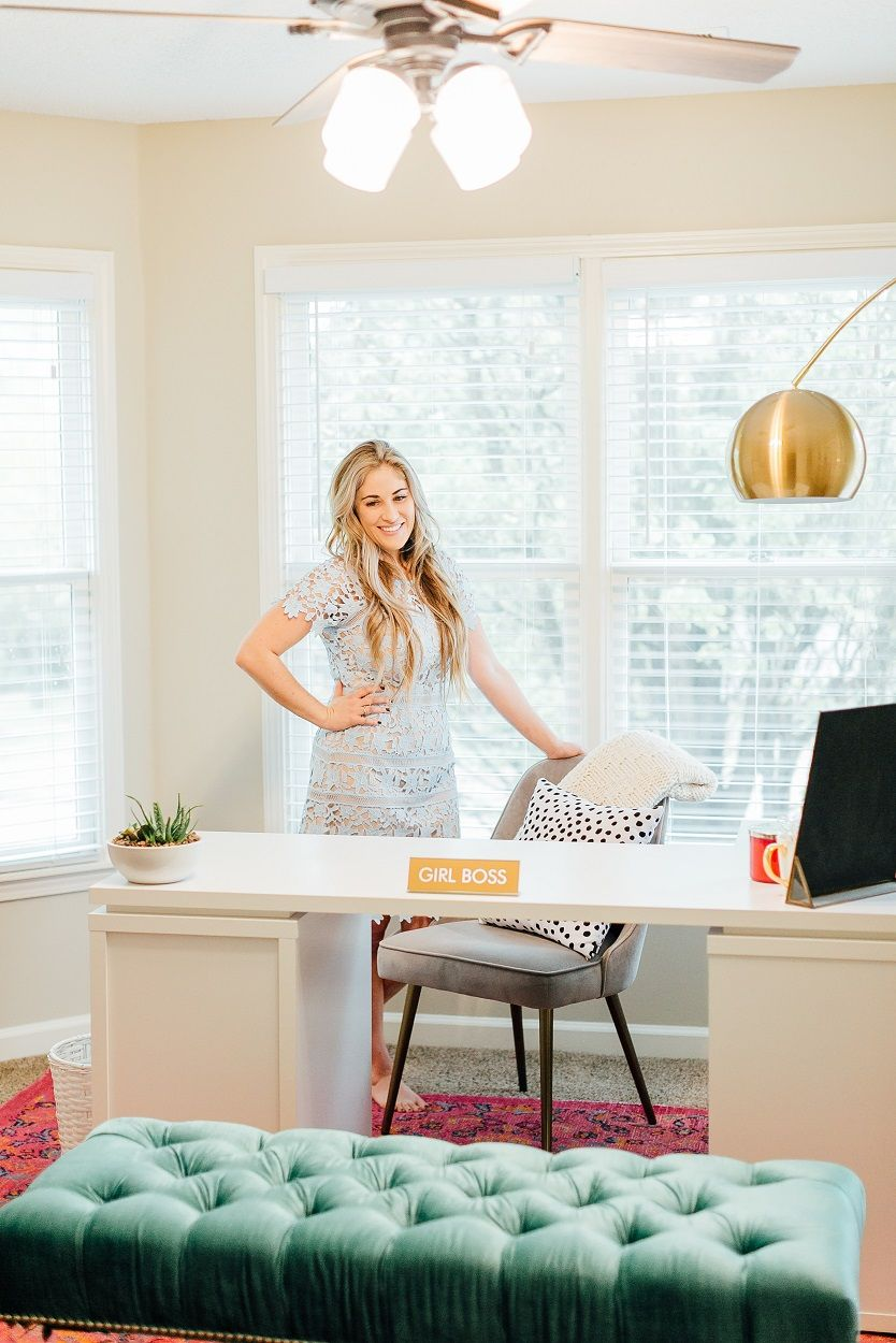 Easy ideas for your next office update sharing some of my favorite ways to update your office without spending a fortune with hunterfanco ad itsahunter