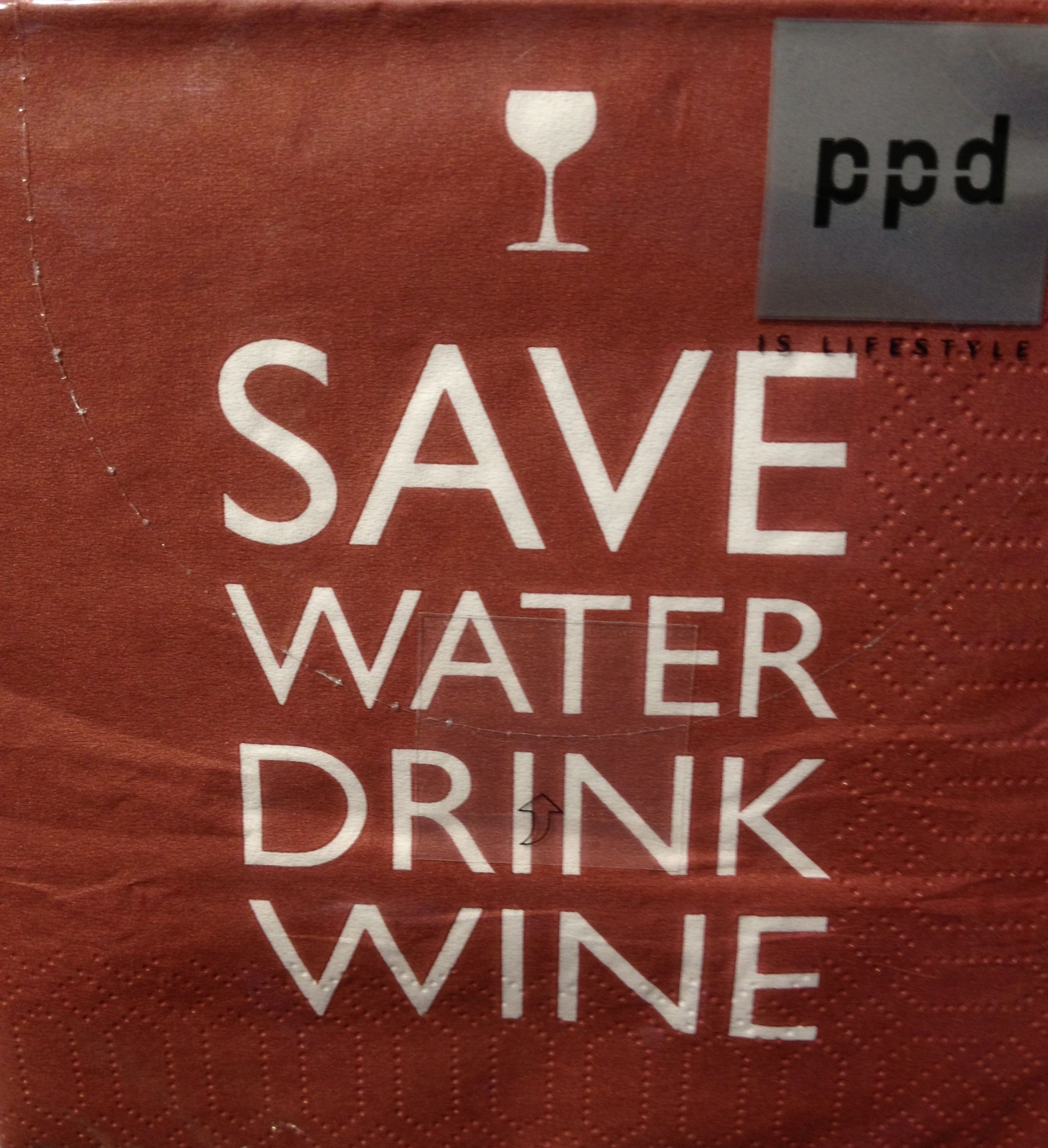 Funny Cocktail Napkins Save Water Drink Wine From Memento Gift Shop Palm Springs 760 325 1963 Save Water Drink Wine Funny Cocktails Funny Cocktail Napkins