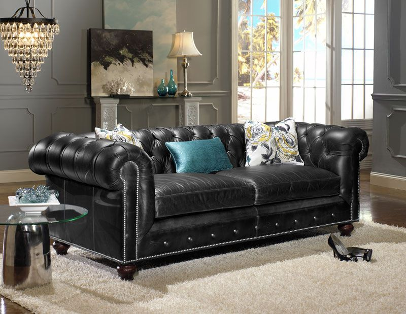 Strange Distressed Black Leather Sofas For A Timeless Beauty And Caraccident5 Cool Chair Designs And Ideas Caraccident5Info