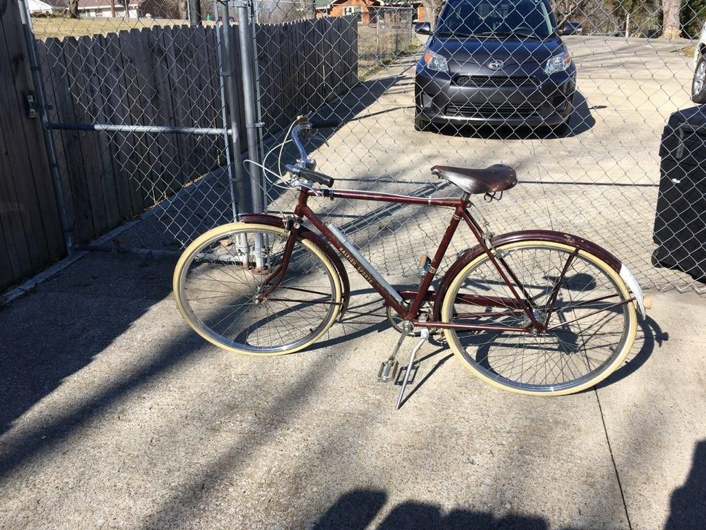 Vintage Bicycle 1960s Raleigh Sports 3 Speed w/ Air Pump