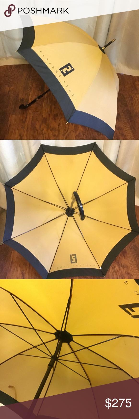 Fendi Vintage Parfums Long Walking Umbrella Fendi Umbrella Clothes Design