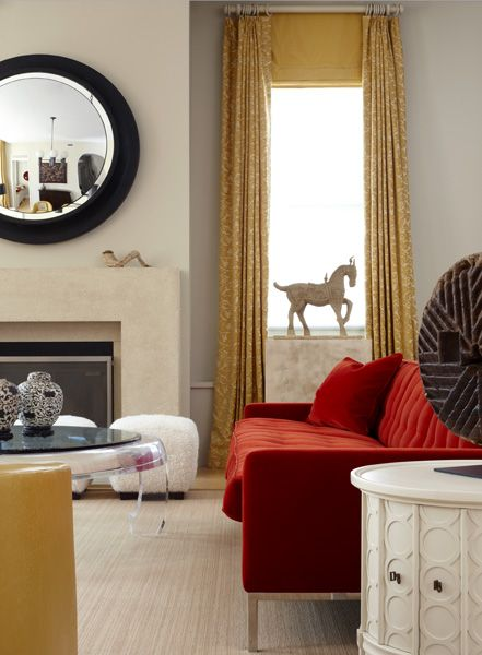 Marvelous Gray Walls Mustard Yellow Curtains Red Sofa Cool White Short Links Chair Design For Home Short Linksinfo
