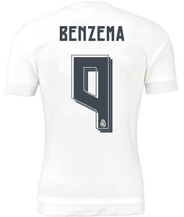 4abc8bd17 Real Madrid 15-16 Kit Font Released - Footy Headlines