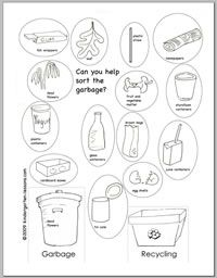 recycling worksheets for kids girl scout daisy pinterest worksheets earth and therapy. Black Bedroom Furniture Sets. Home Design Ideas