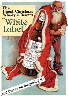 santa claus and whisky christmas santa and the elfs