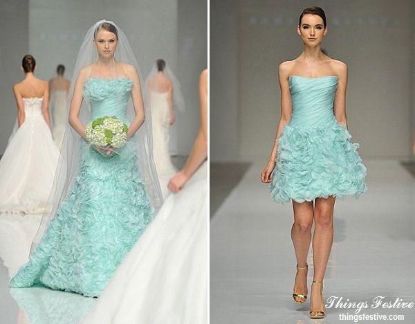 Mint Green Wedding Dress & Reception Dress #wedding #weddingdress ...