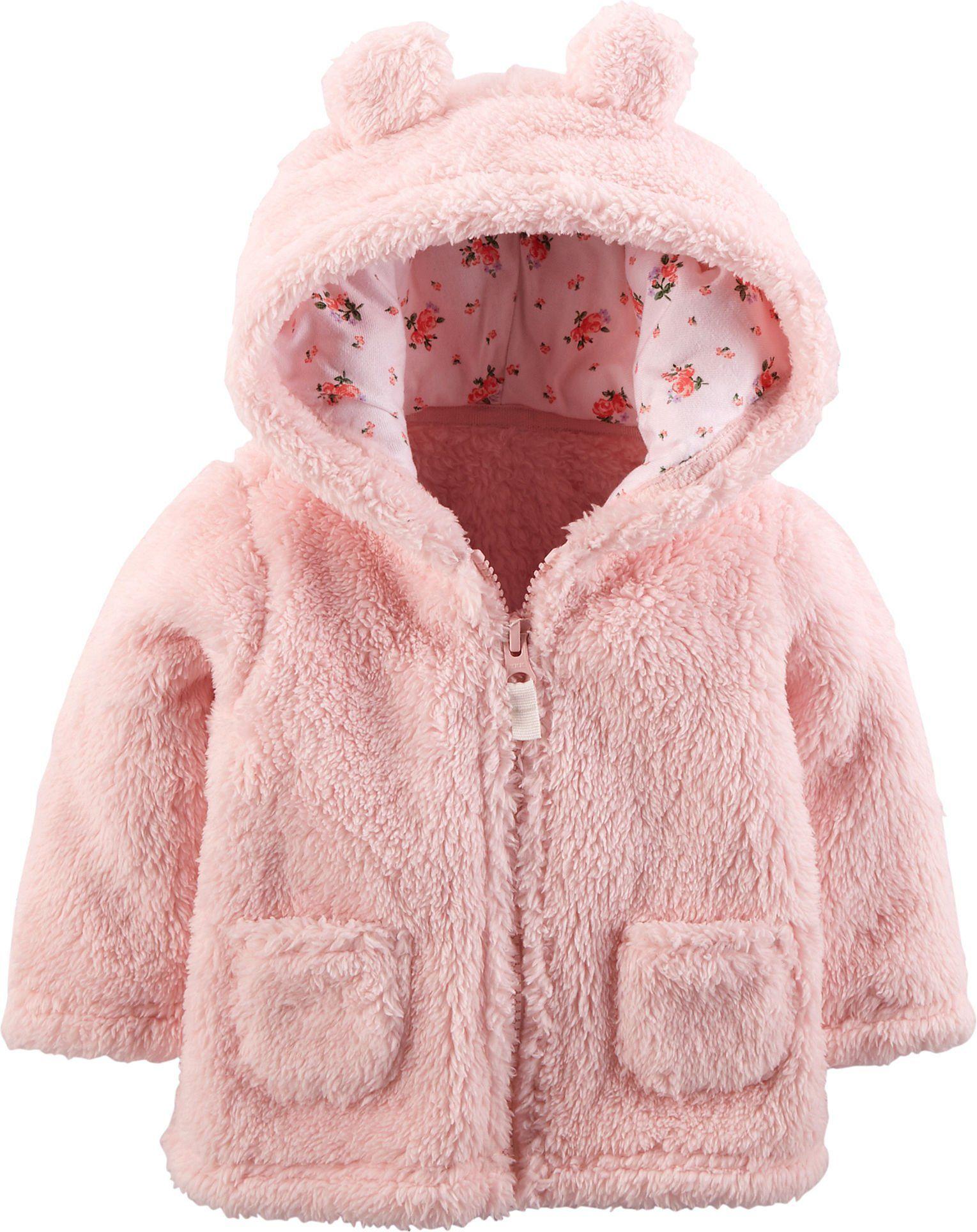 b4ebd782b195 Carters Unisex Baby Hooded Sherpa Jacket (6 Months