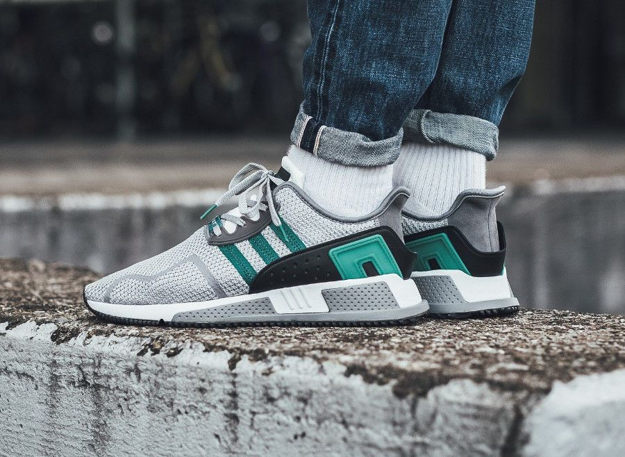 best service 784d3 1675f ... shopping adidas eqt cushion adv grey two sub green white sneakers all  sizes adidas runningshoes 16a32