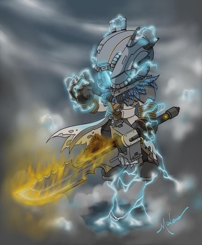 Brian Moncus Destiny Warlock Stormcaller Artwork