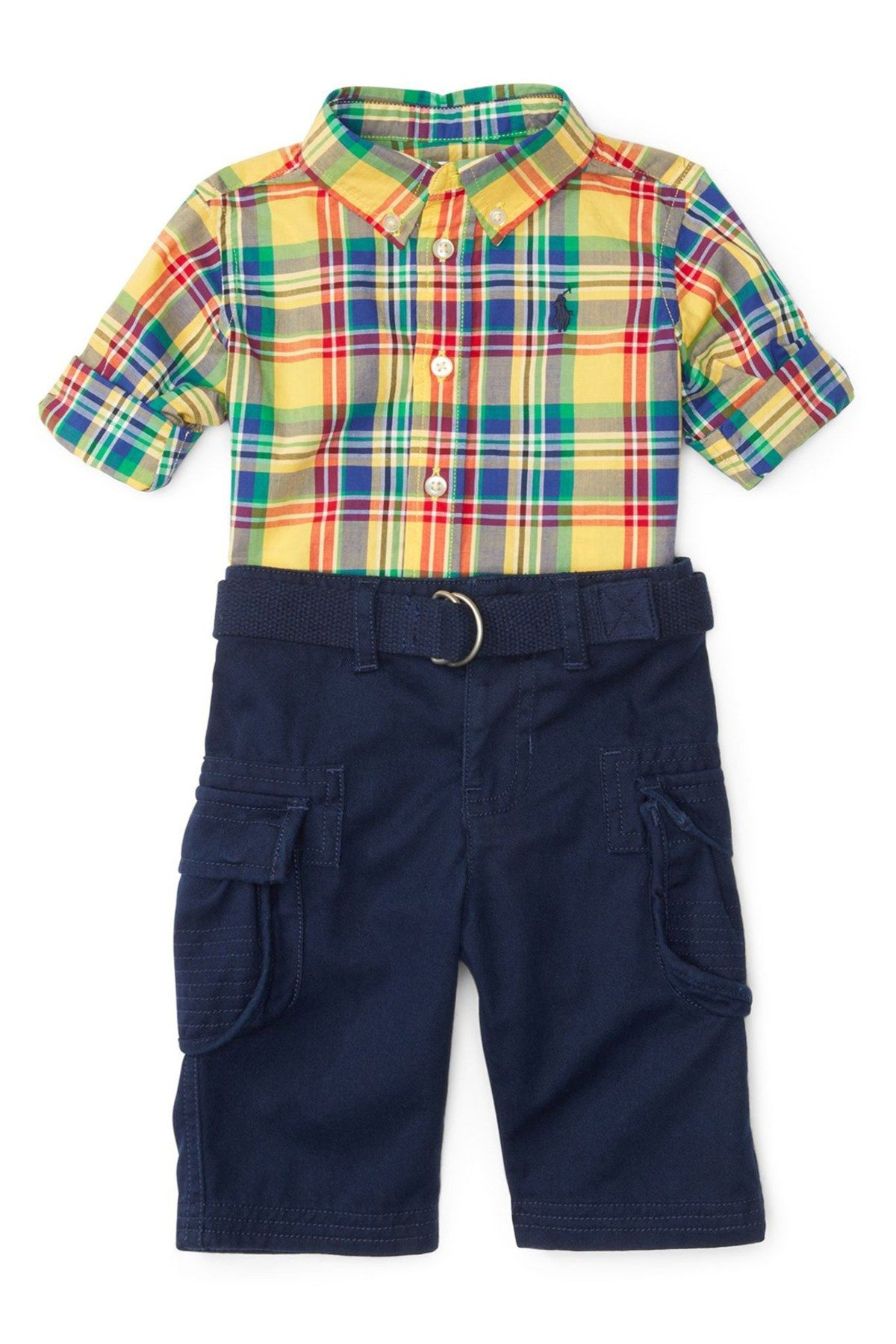 Flannel shirt for baby boy  Plaid Shirt u Cargo Pants Set Baby Boys  Products