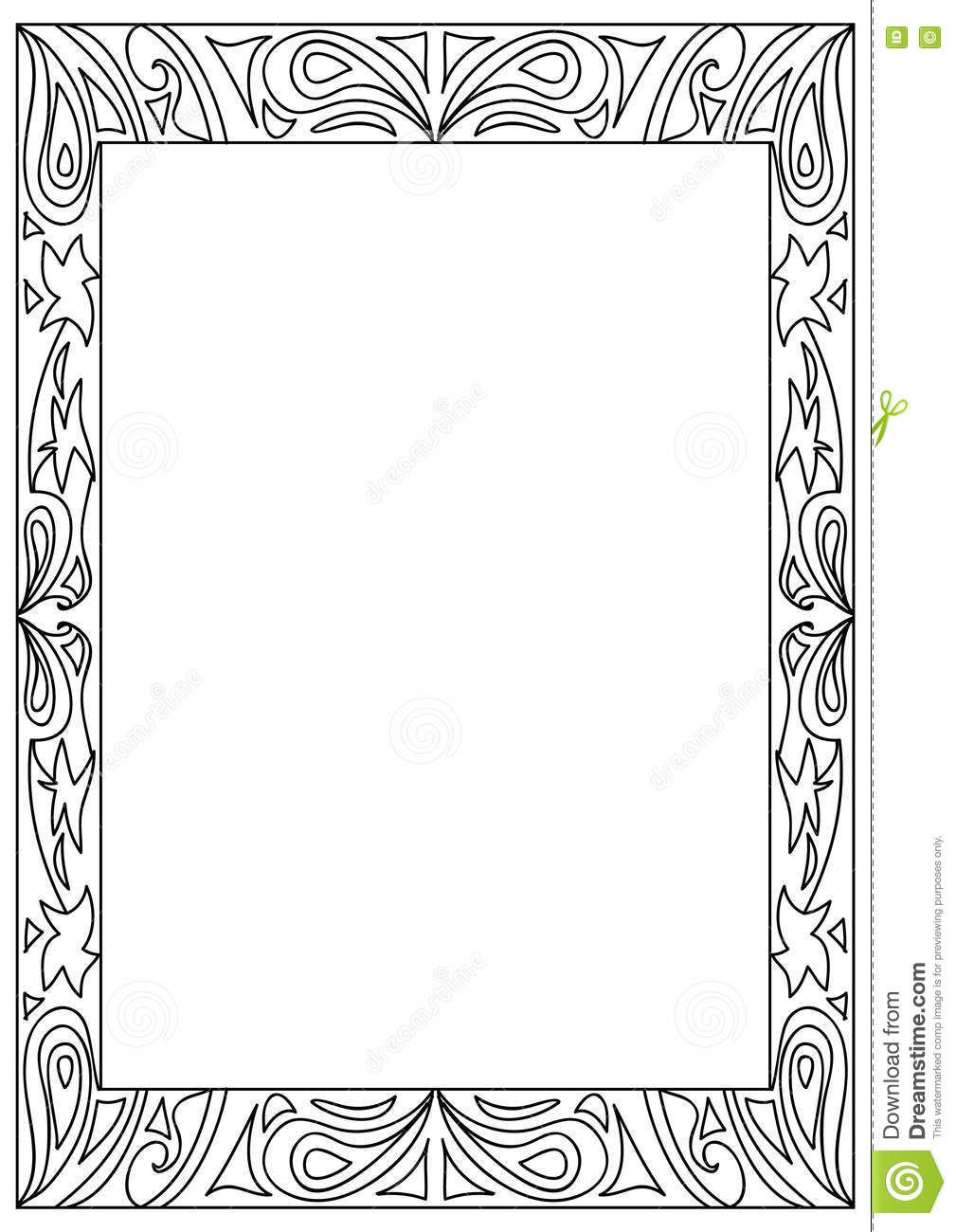Related Image Free Picture Frames Coloring Pages Frame