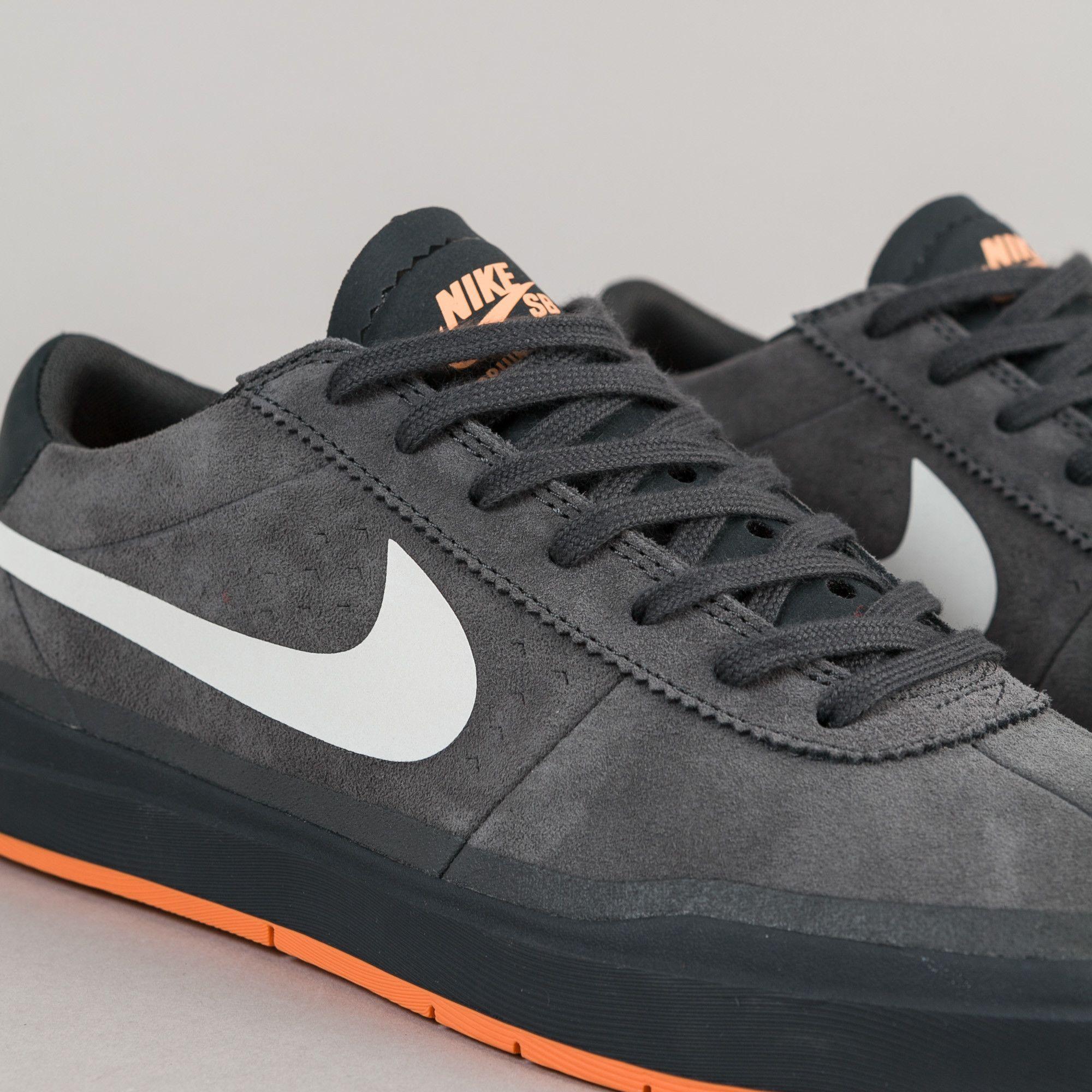Nike SB Bruin Hyperfeel XT Shoes - Anthracite / White - Clay Orange