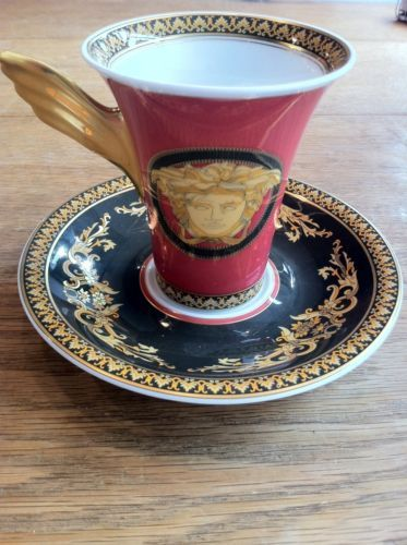 Versace Medusa cup and saucer, Rosenthal china