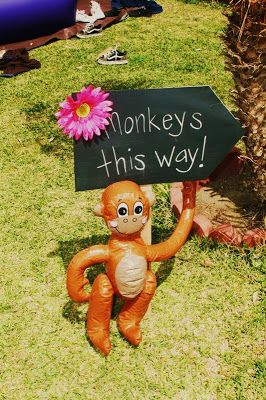 Buy an inflatable monkey for your classroom! He could move around all year long to keep students excited and on their toes about what is next. Make him the official class mascot!