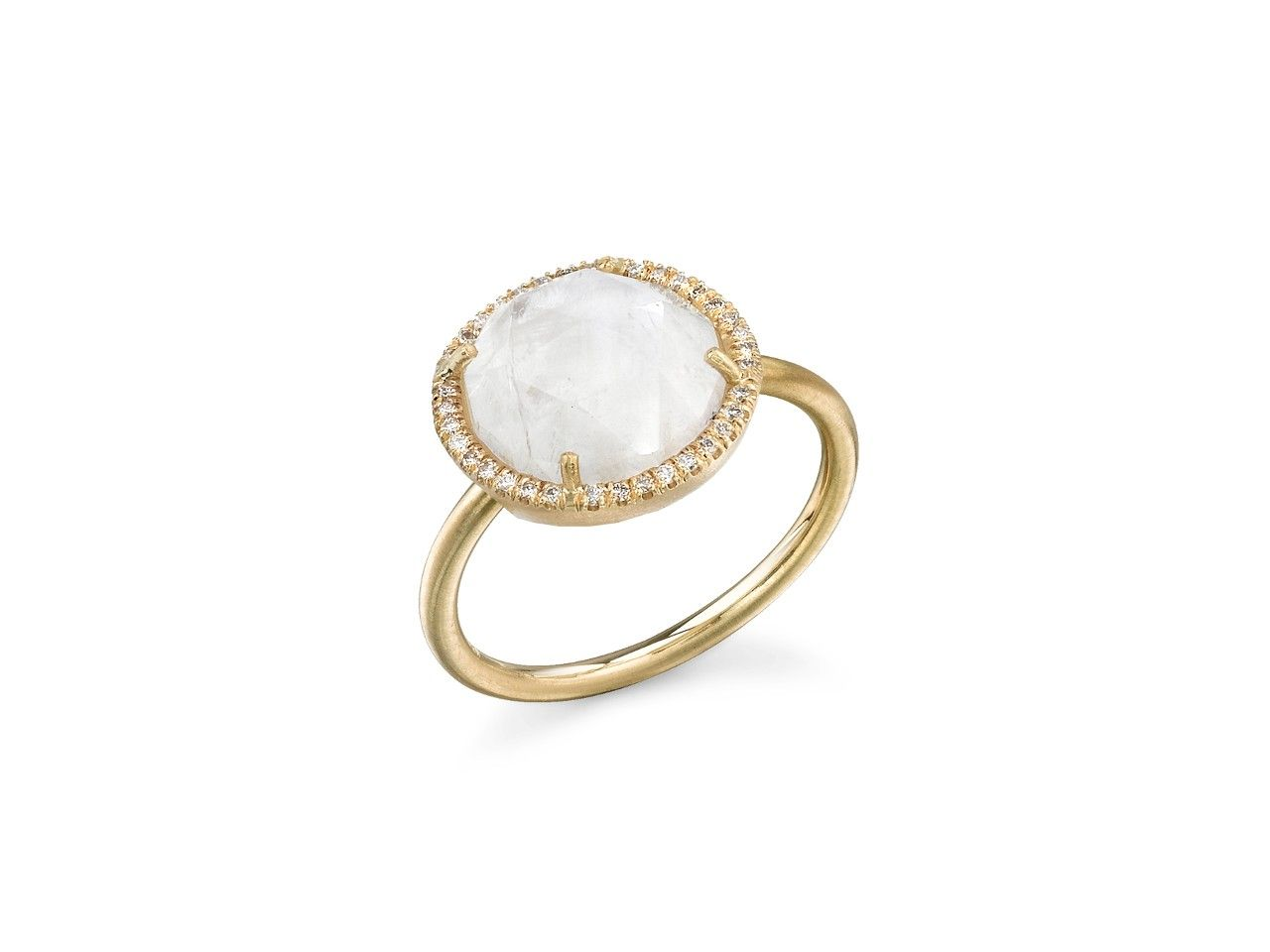Irene Neuwirth Rainbow moonstone & yellow-gold ring