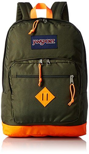 JanSport City Scout Backpack - Green Machine Fluorescent Orange   18