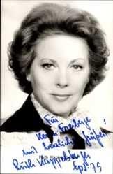Ansichtskarte / Postkarte Schauspielerin Ruth Kappelsberger, Fernsehansagerin, Portrait