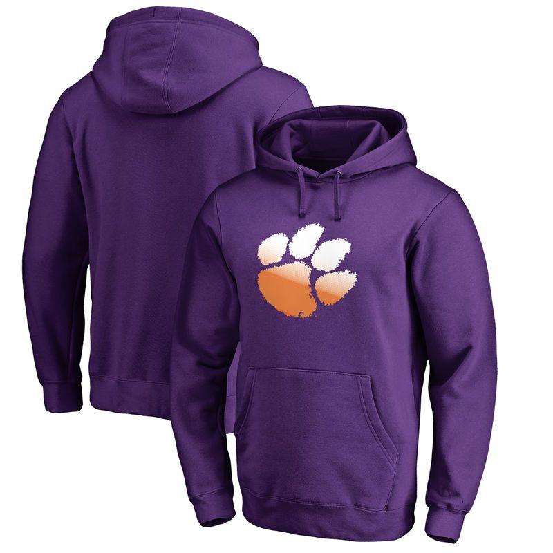Clemson Tigers Fanatics Branded Big Tall Gradient Logo Pullover