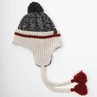 Roots Chunky Cable Earflap Funky Hats Roots Clothing Knitting For Kids