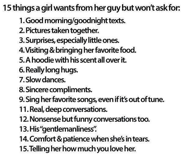Things Girls Want In A Guy