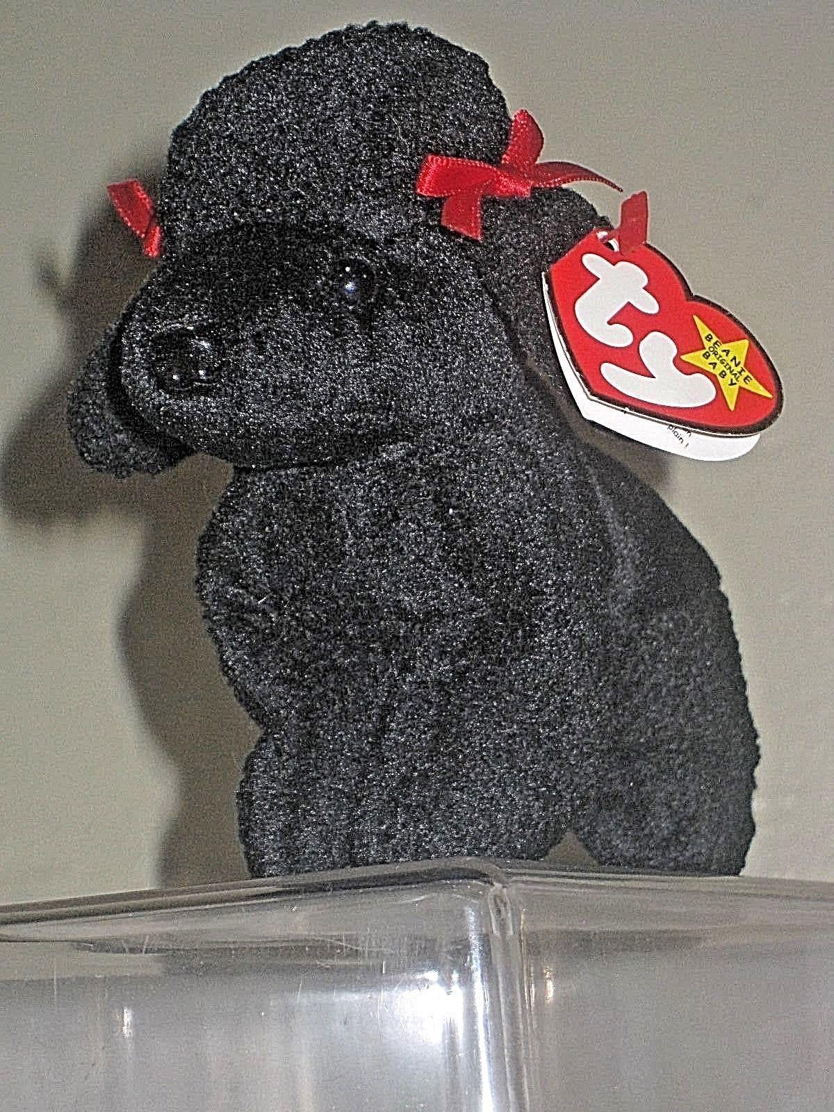 c95b8e9bae6 Ty Beanie Baby Gigi Poodle Dog Errors Tag Retired 1997   1998 ...