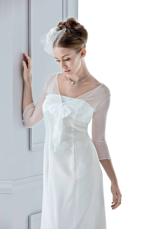 Bolerojacke Tüll Weiße Bolerojacke aus zartem Tüll für die Braut von ...