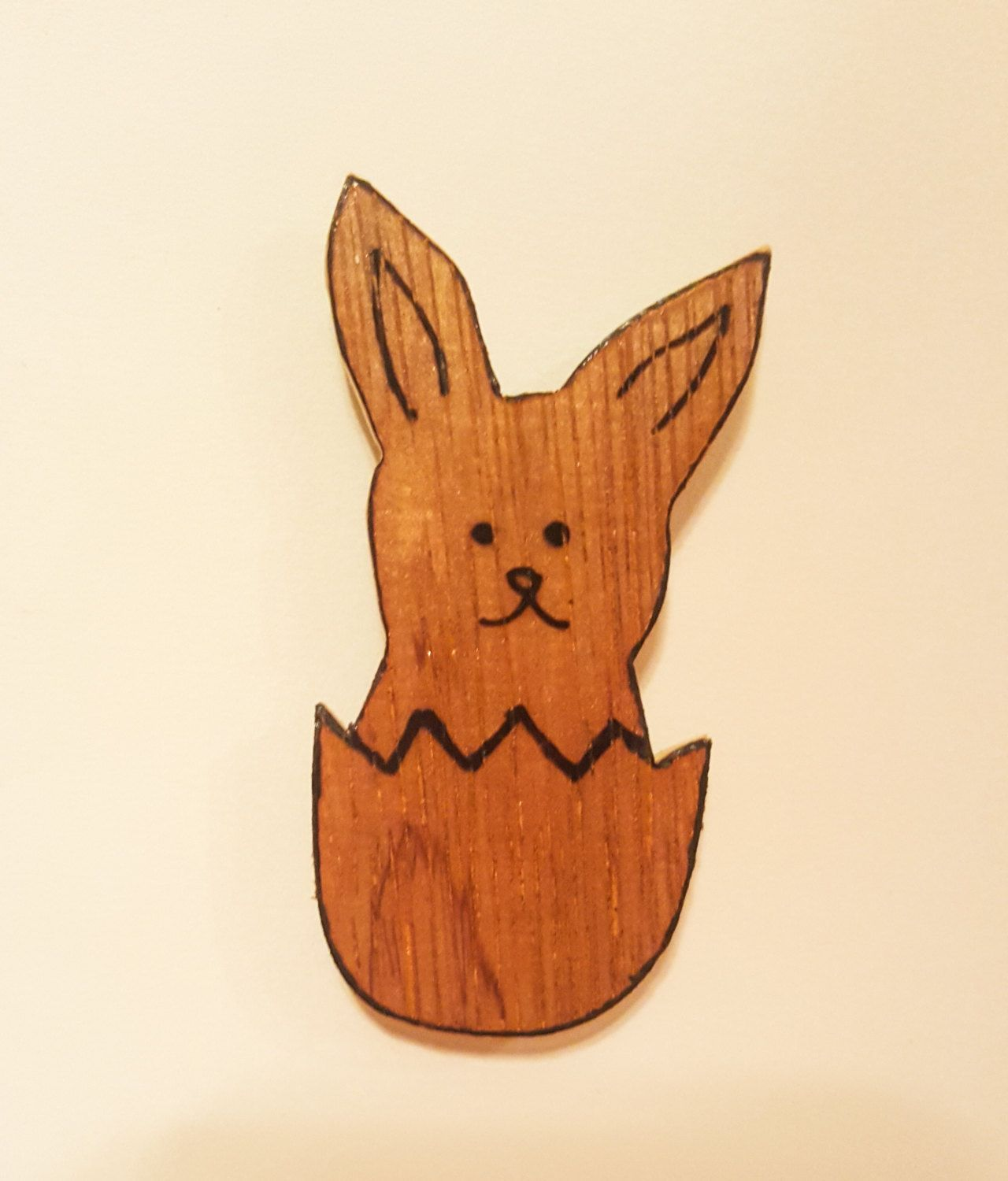 Easter fridge magnet wooden bunny magnet easter gifts easter easter fridge magnet wooden bunny magnet easter gifts easter basket gift by naturalaccentshd negle Images