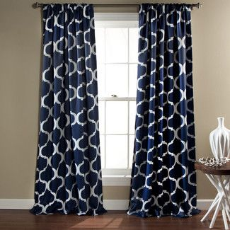 Found it at Wayfair - Special Edition by Lush Decor Geo Blackout Window Curtain Panels - Color: Navy (Set of 2)http://www.wayfair.com/Geo-Blackout-Window-Curtain-Panels-C212-LJD3174.html?refid=SBP
