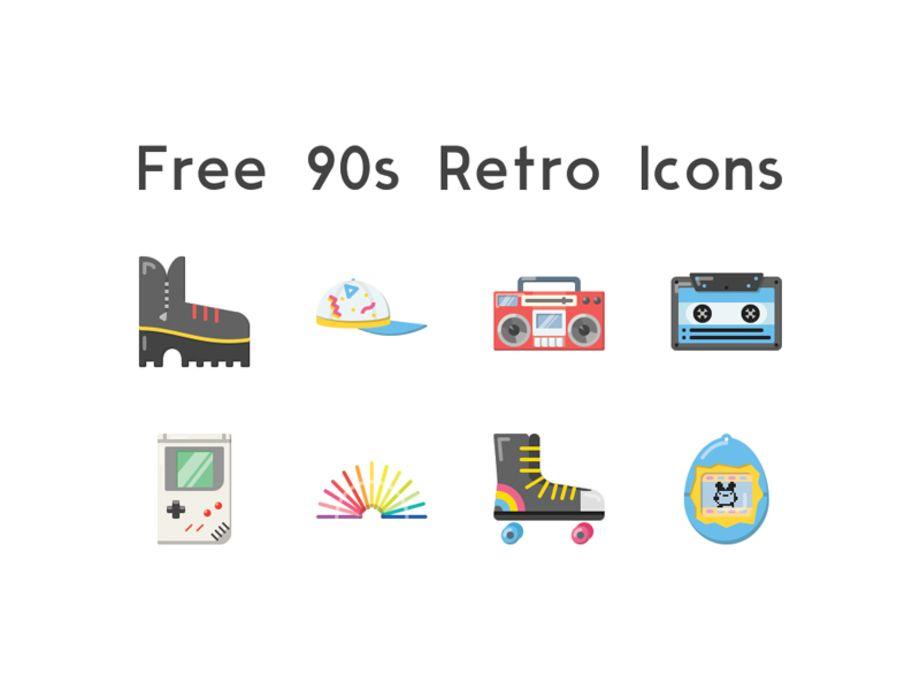 90s Retro Icons Retro Icon Retro Waves