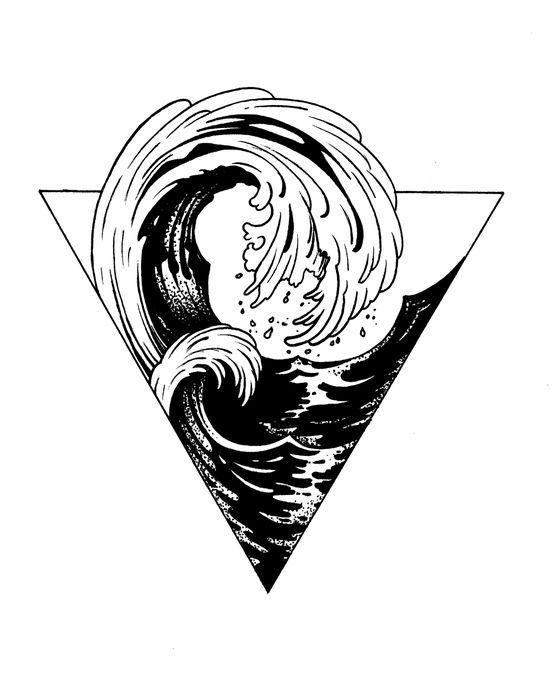 Pin by Nayeli on Tattoo's | Surf tattoo, Inspirational ...Waves Drawing Tattoo