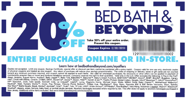 Bed Bath And Beyond 20 Off Coupon Home Ideas Home Garden Bed