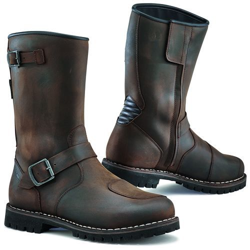 Brown TCX Fuel Waterproof Motorbike Motorcycle Leather Touring Boots