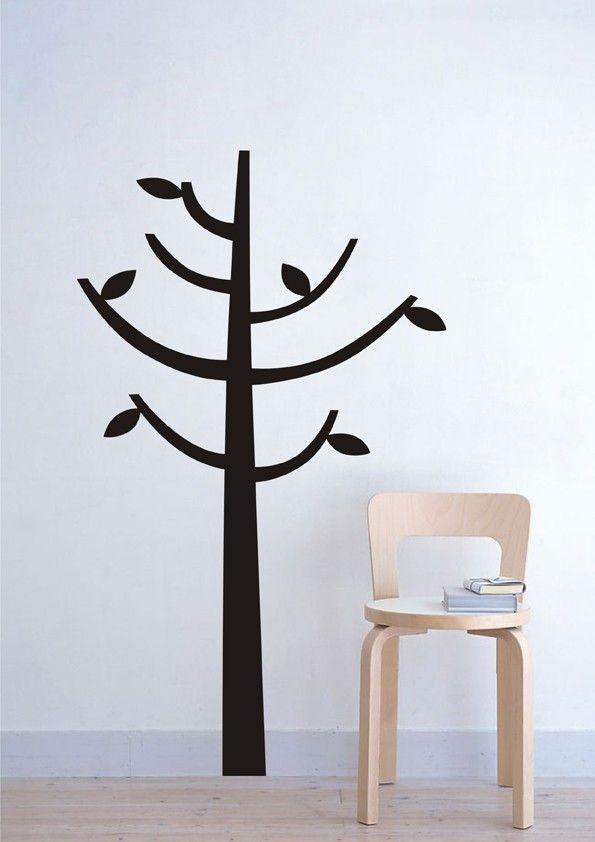 vinilo decorativo en forma de arbol ideal para realizar un perchero