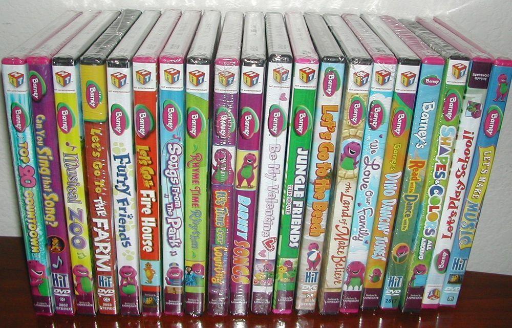 Lot of 20 Barney The Purple Dinosaur Dvd New Dinosaur