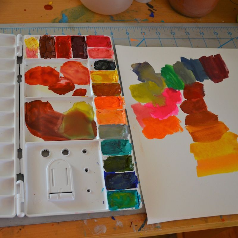 For cracking gouache use an eye-dropper or straw to add a ...