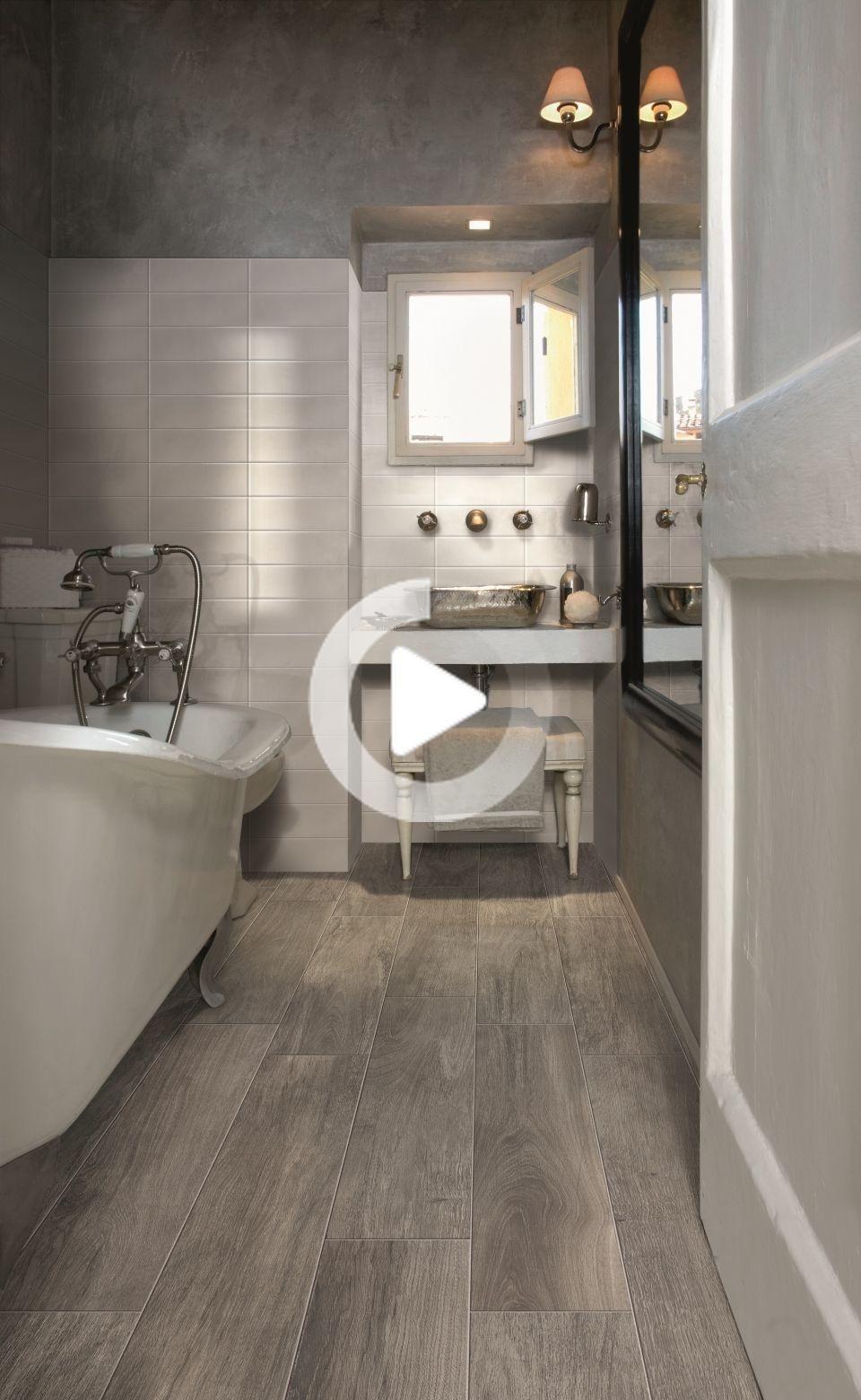 Lux Holz In 2020 Badezimmer Holzboden Holzfliesen Badezimmer Grauer Boden