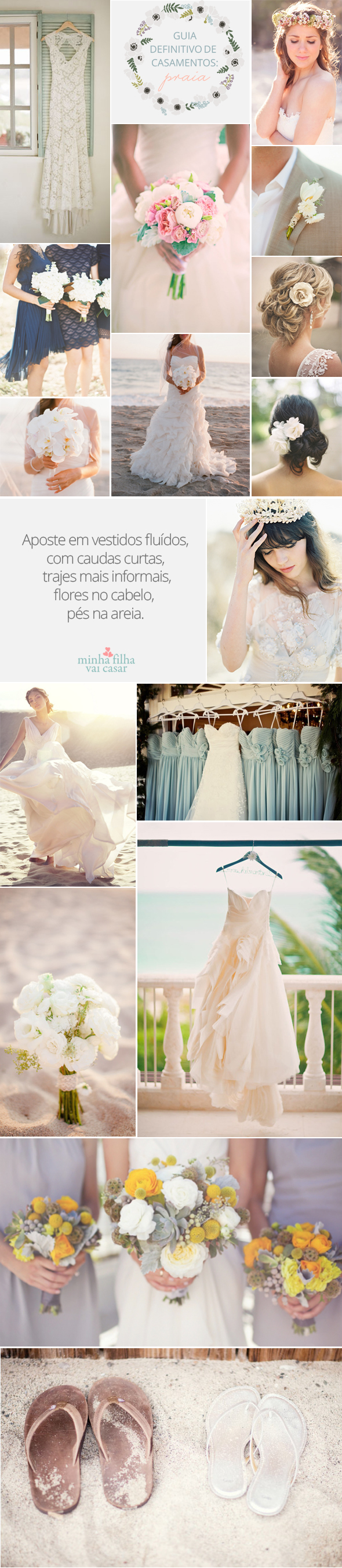 Beach wedding looks for bride  There is a dress down towards the bottom that is about perfect