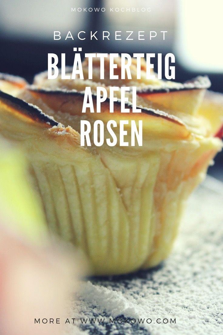 Blätterteig Apfel Rosen Backrezept #blätterteigrosenmitapfel